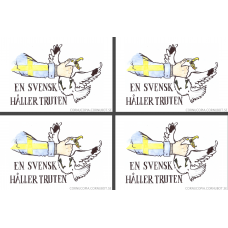"Sticker ""A Swede Holds The Gull"" - 4 units"