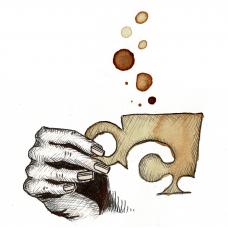 Multiple coffee illustrations